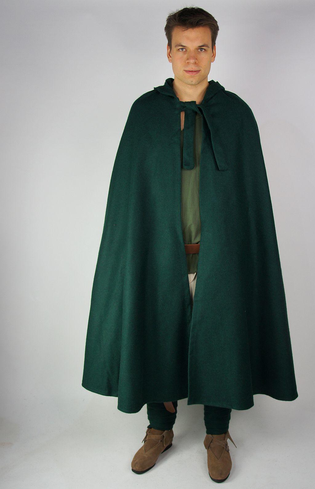 Kapuzen Umhang Mantel Halbkreismantel Aus Wolle Gewand Für