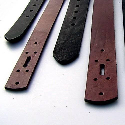 Gürtel Rohling aus Kernleder 2 cm breit - 3 Längen - 2 Farben