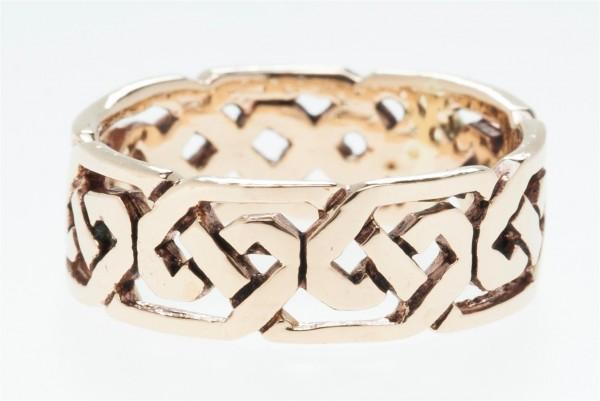 Svana Bronze Ring im keltischen Stil - Schmuck Accessoire für Historische Gewandungen, Reenactment u