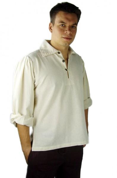 Hemd mit Kragen für Larp und Mittelalter Gewandung