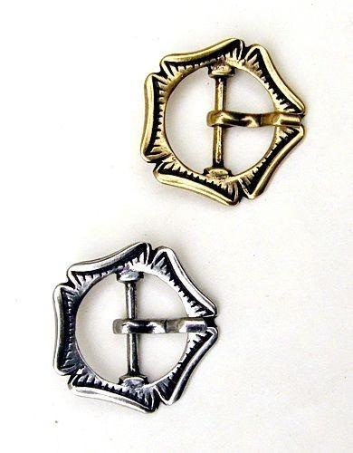 Mittelalter Schnalle Fünfpass 2 cm -Zubehör für mittelalterliche Gürtel für Reenactment und LARP