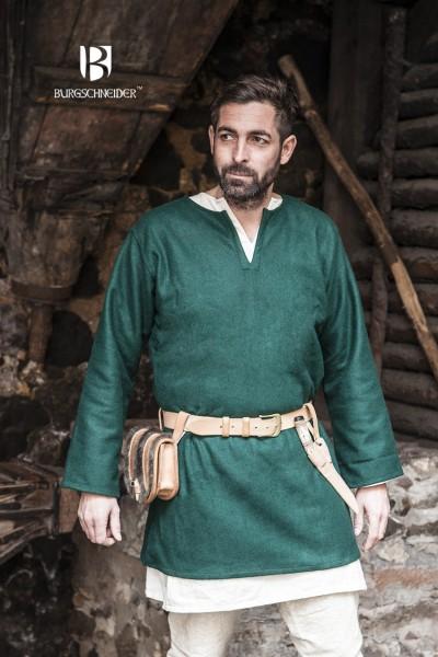 Wolltunika Lodin, Grün Mittelalterliches vom Burgschneider
