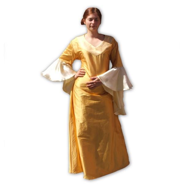 Mittelalterkleid Eleonore 100 % Leinen Maßanfertigung