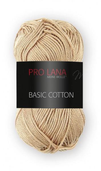 Basic Cotton Farbe: 08 beige von Pro Lana 100 % Baumwolle