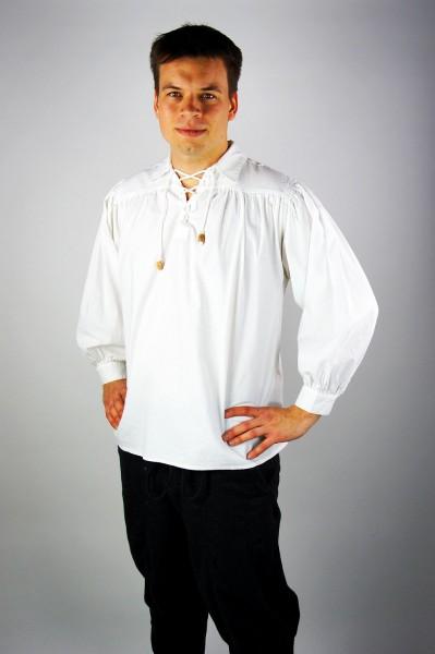 Bauernhemd mit Kragen Mittelalterliches Gewand für historische Kostüme und LARP