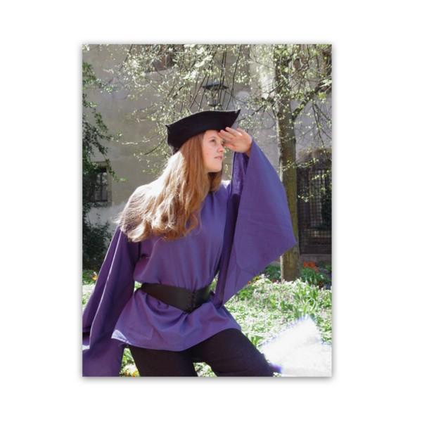 Mittelalterbluse 'Anna' mit Tütenärmeln - Maßanfertigung 100 % Baumwolle