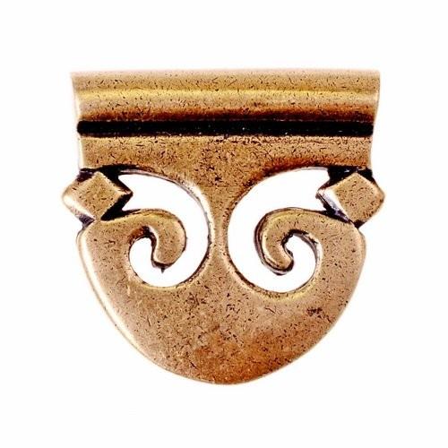 Schildförmiges Riemenende für 4 cm Gürtel - Mittelalter, Reenactment und Larp