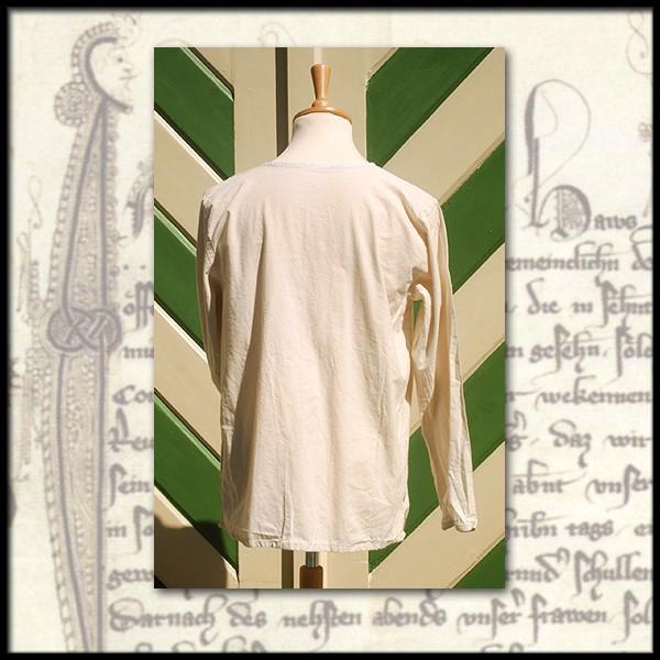 Einfaches Hemd ohne Kragen Schnürhemd - 100 % Baumwolle - Mittelalter und LARP Gewand Maßanfertigung