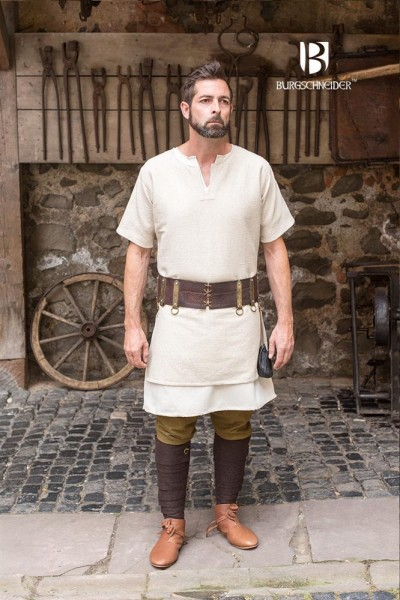 Kurzarmtunika Aegir, Hanf Mittelalterliches vom Burgschneider