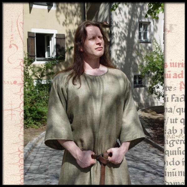 Schlichte Cotte mit kurzen Ärmeln, 100 % Baumwolle - Gewand für Mittelalter, Reenactment und Larp Ma