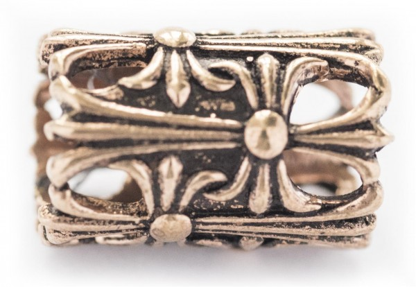 Haarperle Bartperle Wikinger Perle Bronze, Accessoire für Historische Gewandungen, Reenactment und L