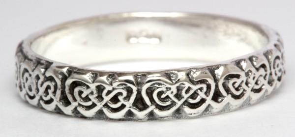 Aileen Silber 925 Ring im keltischen Stil - Schmuck Accessoire für Historische Gewandungen, Reenactm
