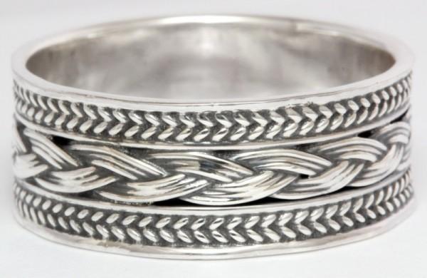 Wikingerring Wingard Silber 925 - Schmuck Accessoire für Historische Gewandungen, Reenactment und Li