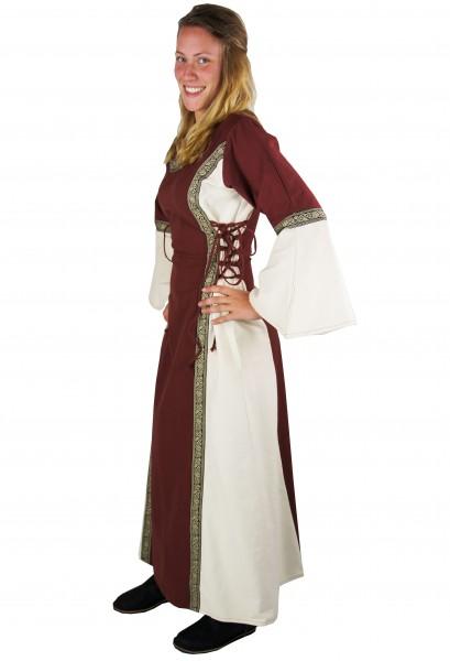 Mittelalterkleid 'Allet' mit seitl. und Rücken-Schnürung