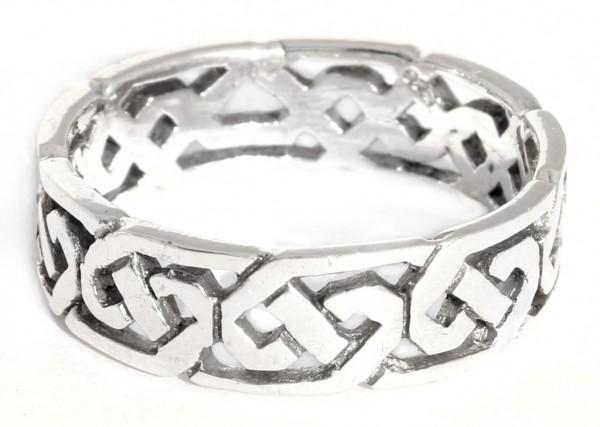Svana Silber 925 Ring im keltischen Stil - Schmuck Accessoire für Historische Gewandungen, Reenactme