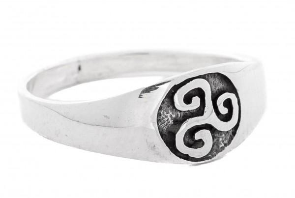Triskel Silber 925 Ring im keltischen Stil - Schmuck Accessoire für Historische Gewandungen, Reenact