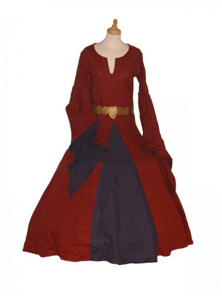 Mittelalterkleid Caitlyn 100 % Baumwolle Maßanfertigung
