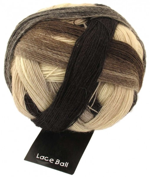 Zauberball Lace Ball ''Schokocreme'' 75% Schurwolle (superwash), 25 % Polyamid