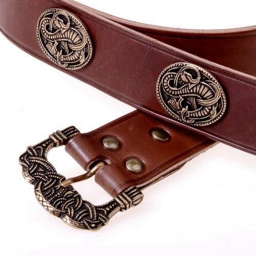 Mittelalter Langgürtel mit Ziernieten 4cm