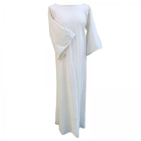 Damen Hemdelin, kurzärmlig, lang - 100 % Baumwolle - Mittelalter und LARP Gewand Maßanfertigung