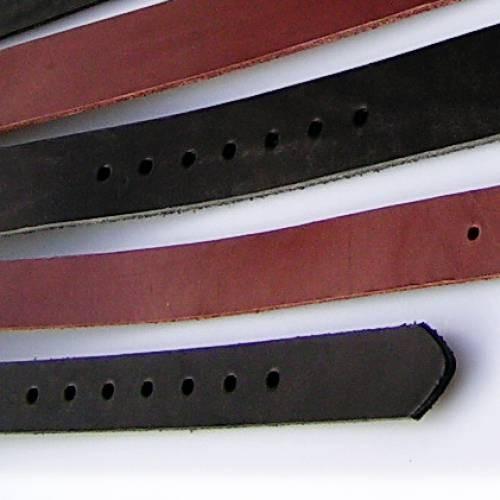 Gürtel Rohling aus Spaltleder 4 cm breit - 3 Längen - 2 Farben