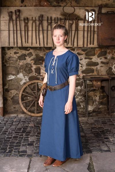 Frauengewand Gretl, Waidblau Mittelalterliches vom Burgschneider