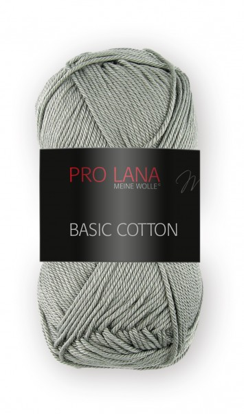Basic Cotton Farbe: 95 steingrau von Pro Lana 100 % Baumwolle