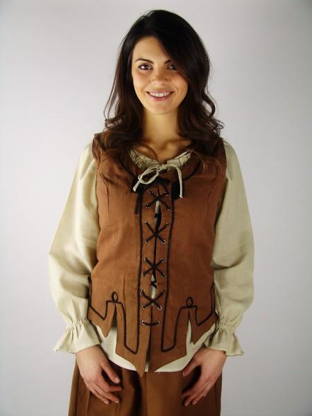 Mieder Weste aus Baumwolle - Kostüme und Larp, Fantasy Gewandung