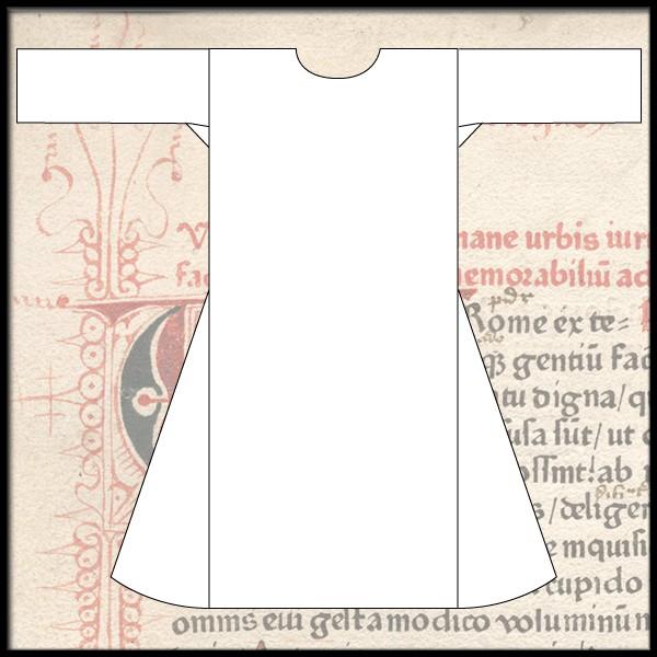 Schlichte Cotte mit weiten Ärmeln, 100 % Leinen Maßanfertigung für Mittelalter, Reenactment und Larp