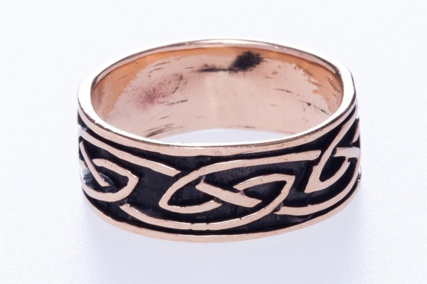 Keltoi Bronze Ring im keltischen Stil - Schmuck Accessoire für Historische Gewandungen, Reenactment