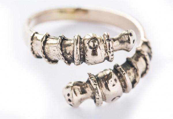 Anderswelt Bronze Ring im keltischen Stil - Schmuck Accessoire für Historische Gewandungen, Reenactm