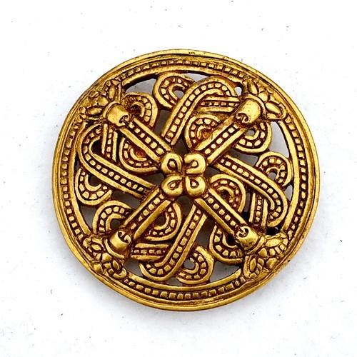 Scheibenfibel aus Finnland im Borrestil Bronze