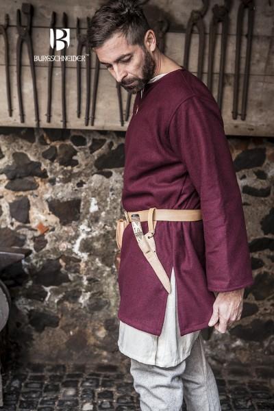Wolltunika Lodin, Rot Mittelalterliches vom Burgschneider