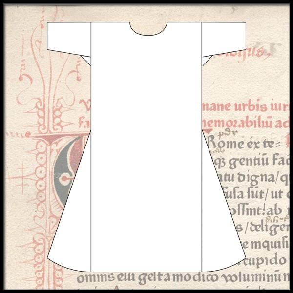 Schlichte Cotte mit kurzen Ärmeln, 100 % Leinen - Gewand für Mittelalter Reenactment und LARP Maßanf