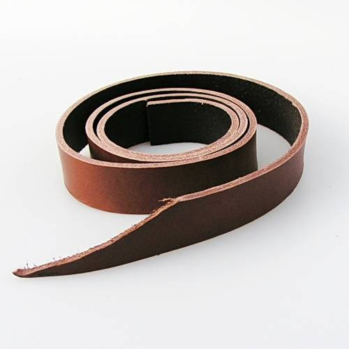 Lederstreifen aus Spaltleder mit 2 cm Breite, ca. 1,30 bis 1,40 m lang für Gürtel Selbermachen