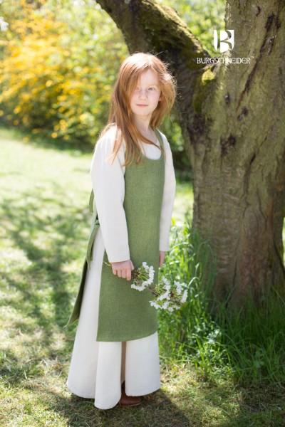 Kinderüberkleid Ylva, Lindgrün Mittelalterliches vom Burgschneider