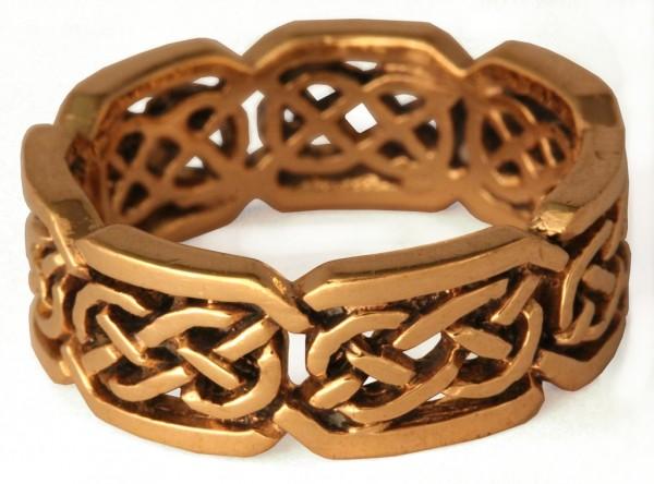 Belenus Bronze Ring im keltischen Stil - Schmuck Accessoire für Historische Gewandungen, Reenactment