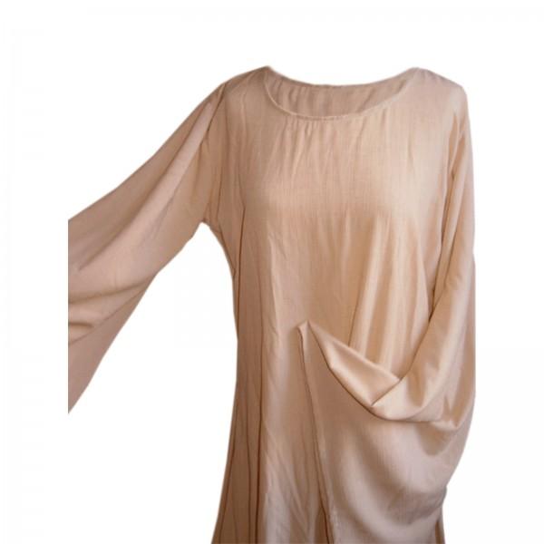 Damen Unterkleid, lang - 100 % Leinen - Mittelalter und LARP Gewand Maßanfertigung