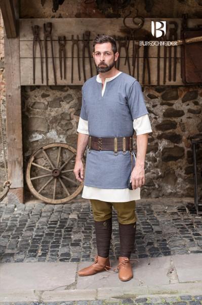 Kurzarmtunika Aegir, Grau Mittelalterliches vom Burgschneider