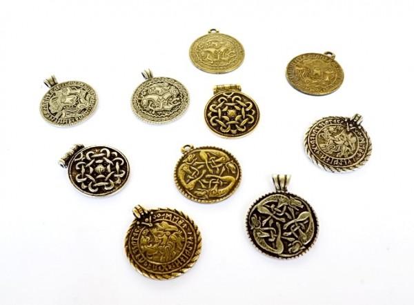 Amulett Set Brakteat - Anhänger Schmuck Mittelalter Larp