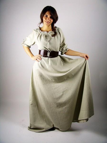 """Mittelalterkleid Unterkleid """"Luna"""" kurzarm bodenlang"""