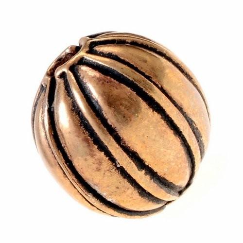 Wikinger Perle Nr. 11 Granulationstechnik Bronze oder Bronze versilbert
