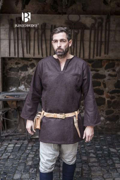 Wolltunika Lodin, Braun Mittelalterliches vom Burgschneider