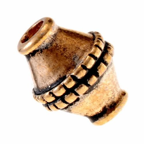 Wikinger Perle Nr. 9 Granulationstechnik Bronze oder Bronze versilbert