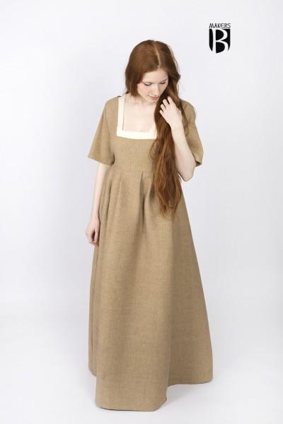 Spätmittelalter Kleid Frideswinde in Sand - DarkDirndl von Burgschneider
