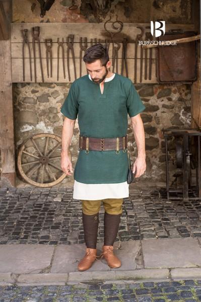 Kurzarmtunika Aegir, Grün Mittelalterliches vom Burgschneider