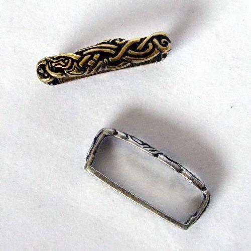 Ringerike Stil Wikinger Gürtelschlaufe Replik für 4 cm Gürtel - Mittelalter, Reenactment und Larp